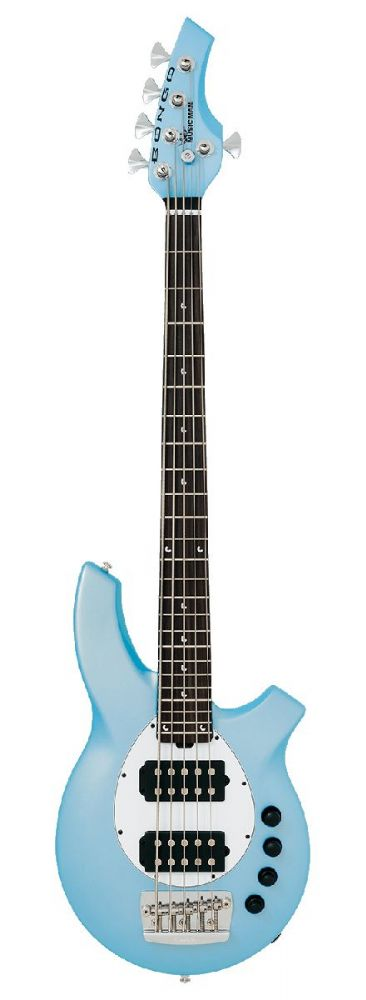 Musicman Bongo 5 HH in Sky Blue with Rosewood Fingerboard